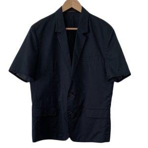 Kris Van Assche unstructured 2 button navy blazer